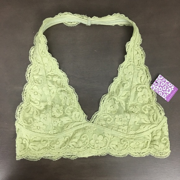 5e092baa52124 Anemone Lace halter Bra-let top NWT